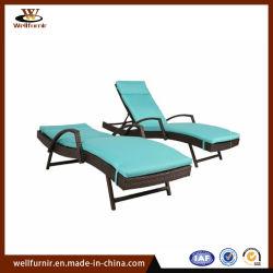 Lit de repos le pliage intérieur extérieur des meubles en rotin lit chaise longue de mentir (WF-300-2)