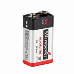 Rauch-Warnungs-alkalische Batterie 9V/6lr61 mit Mikroleistungs-Marke