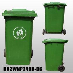 Conteneur de déchets 240L en plastique Corbeille poubelle pour Outdoor