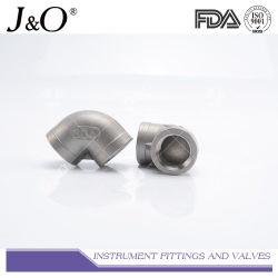 SS304 316Lの高圧産業ステンレス鋼女性糸の管付属品が付いている90度の不足分の肘
