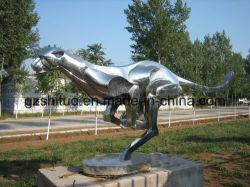 De Kunst van de jachtluipaard van de Beeldhouwwerken van het Roestvrij staal