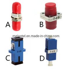 Mt-1033 barata 3dB 5dB 7dB 15dB 10dB 20dB 30dB 40dB St FC Sc Adaptador de fibra óptica LC atenuador Variable