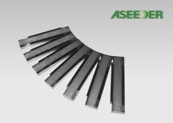 炭化タングステン材料が付いているカスタマイズされた木製の粉砕機の木製の刃