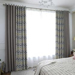 Impressão de escamas de cores onduladas nórdicos Shading Cortina Sala de estar Quarto Cortina da janela do compartimento da Varanda