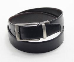 Hebilla de acero de torsión de cuero correas de cintura para el hombre el uso de doble cara de la correa de cuero