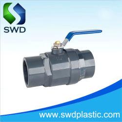 Impugnatura in ABS nuovo tipo raccordo in PVC giunto di accoppiamento valvola di controllo in PVC Valvola a sfera in PVC a due pezzi valvola a sfera in 2 pezzi