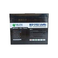 Auslese-tiefe Schleife LiFePO4 Lithium-Eisen 75ah 12volt Marinebatterie für Energien-Kondensator-Bank-Zubehör