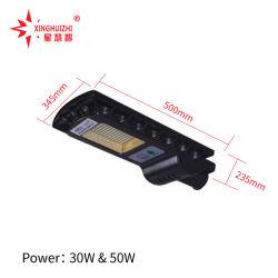 High Power 60 W 90 W 120 W 180 W 260 W Integrated Solar Street Illuminazione LED All in One lampada da giardino impermeabile IP65