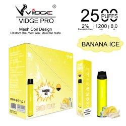 Cobertura descartável Vige PRO Disposable Vape da bobina de malha de tecnologia mais vendida Canetas de 2500 puffs electrónicos para cigarros com a melhor bateria de 1200 mAh