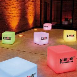 16 cores alterando o Natal Luz decorativa luz LED Cube logotipo impresso