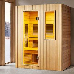 한국 소형 건조한 인물 목제 가득 차있는 스펙트럼 먼 적외선 적당 Sauna 룸
