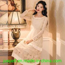 Настроить женщин во французском стиле дамы Vintage кружева моды элегантный стиль одежды