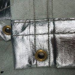 アルミニウムシリコーンのガラス繊維の炎-抑制キャンバススクリーン