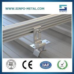 주석 또는 금속 지붕 PV 태양 전지판 임명 부류 태양 가로장 장비