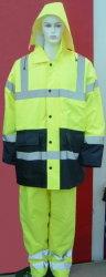 Hi-Visible PU/PVC покрытием полиэстер куртка