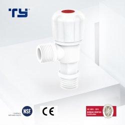 Soupape de PVC en plastique de l'angle de l'eau du robinet de haute qualité prix fabricant de la Chine