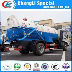 10-12톤 고압 Fecal Sluge 흡입 탱커 트럭 하수구 청소 차량 세팅 진공 청소기 탱크 트럭