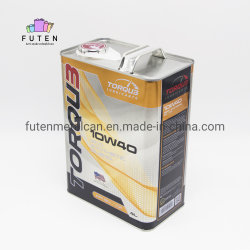 Оптовая торговля Логотип печати CMYK пустые квадратные прямоугольные химического Тин может металлические канистры масла в системе смазки двигателя моторное масло Тин банок