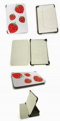 Fraise Hand-Made Diamond PU Housse en cuir pour iPad (l'iPad002)
