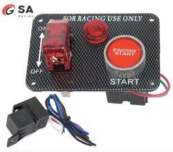 12V 레드 LED 경주용 자동차 엔진 시동 푸시 버튼 점화 스위치 패널 전환 핫