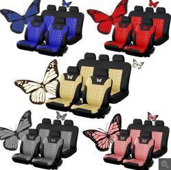 3D de la mariposa de coche universal Fundas de tejido de poliéster Protector de asiento de coche