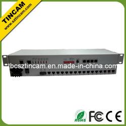 Bonne qualité de 16e1+4 *10/100m eth PDH 120ohm multiplexeur