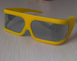 Kunststoff Linear polarisiert 3D Gläser (LP18GTS07)