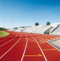 Heißer Verkauf gießen voll synthetischer Gummi-laufende Spur-Oberfläche für Stadion-Schule