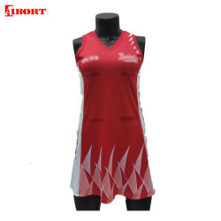 Aibort Sublimation Polyester A-Line V Neck Netball Dress with Panel