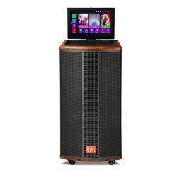 """10의 """" LCD 무선 Bluetooth를 가진 HiFi WiFi 텔레비젼 영상 직업적인 오디오 음악 PA 마이크 Karaoke 장비 다중 매체 당 트롤리 스피커는 이중으로 한다"""
