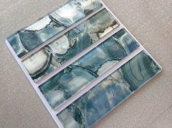 Sur la surface du verre plat de grains de pierre de marbre de bloc 75 * 300 * 8/6 mm, de Tuiles, carreaux de plancher. Matériaux de construction/Mosaïque Gys/Wall Tile,-1110/Keramisk Flis