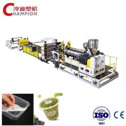 De PP PS QUADRIS folha plástica linha de extrusão/máquina extrusora para formação de vácuo produto Pacote Alimentar/Linha de Produção