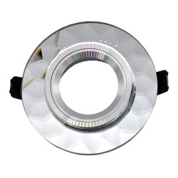 둥근 조정 수정같은 전등 설비 GU10 MR16 Downlight 이음쇠 (LT2124)