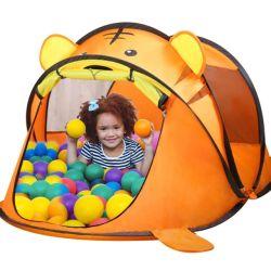 大きい屋外の携帯用トラの子供のテントの漫画動物の子供の演劇の家によってはおもちゃのテントが現れる