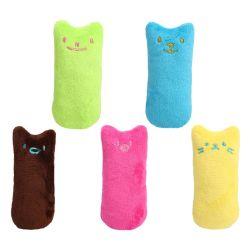 歯粉砕のイヌハッカは熱い猫のための声おもちゃの爪の親指のかみ傷猫のミントをかみ砕いているおかしい対話型のプラシ天猫のおもちゃペット子ネコをもてあそぶ