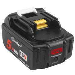 Bl1850 5.0Ah 18V Batterie de remplacement compatibles avec Makita BL1850b bl1850 BL1830 BL1860 Lxt Outils Batterie lithium-ion avec voyant