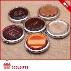 Specchio Pocket cosmetico del blocco per grafici di cristallo dell'acciaio inossidabile per il regalo 2016