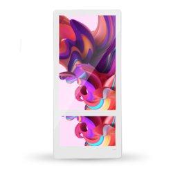 벽걸이 18.5인치 듀얼 스크린 LCD 광고 간판 리프트 슈퍼 슬림 엘리베이터 LCD 광고 플레이어