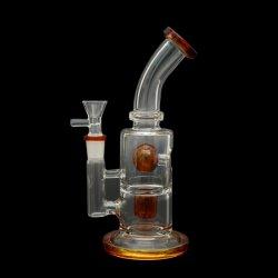 Vaso de precipitados de vidrio negro Phoenix el hábito de fumar pipa de agua con el doble neumático PERC