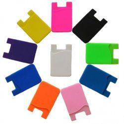 حامل بطاقة Silicone لاصق للهاتف المحمول في محفظة الجيب