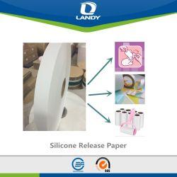 El papel de silicona de materias primas para compresas
