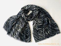 숙녀 봄 여름 스카프 경량 인쇄된 긴 숄 얼룩말 패턴