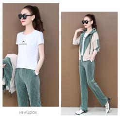 2020 Le coton de femmes occasionnel en deux pièces de Mode Sportswear
