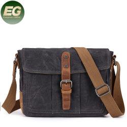 Modèles GA46 en cuir véritable OEM unisexe Crossbody imperméable Vintage sacs sac bandoulière pour ordinateur portable à l'épaule Mens hommes toile cirée Messenger Bag