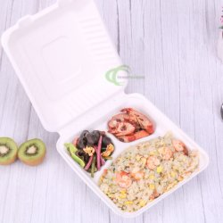 prix d'usine populaire la bagasse de canne à sucre Lunch Box Boîte de pâte