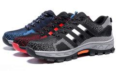 Mens-Sicherheits-Schuh-Form-Stahlzehe-Arbeits-Aufladungen, die kletternde Schuhe wandern