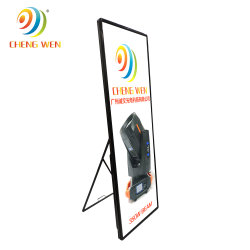 Schermo di visualizzazione video di pubblicità dell'interno del manifesto di colore completo LED di qualità di P3 576*1920mm Hight
