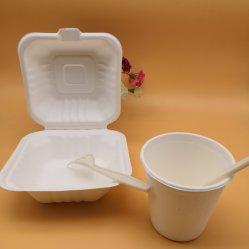 Hoogwaardig suikerrietpapier voor eenmalig gebruik Decoratief 12oz glazen cupproduct