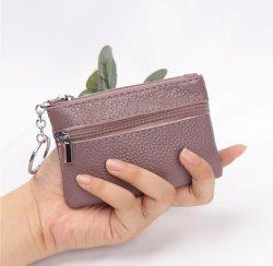 Modieuze Simple Leather Joker Mini Key En Coin Purse