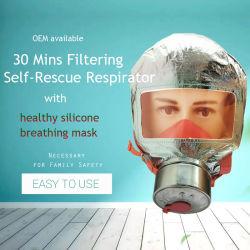 Escalera de Incendios de protección de emergencia Face máscara de gas